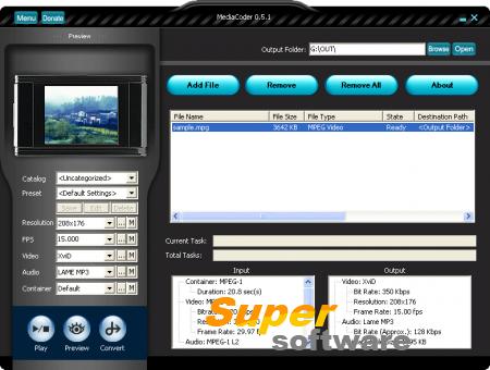 Скриншот MediaCoder 0.8.49 Build 5890