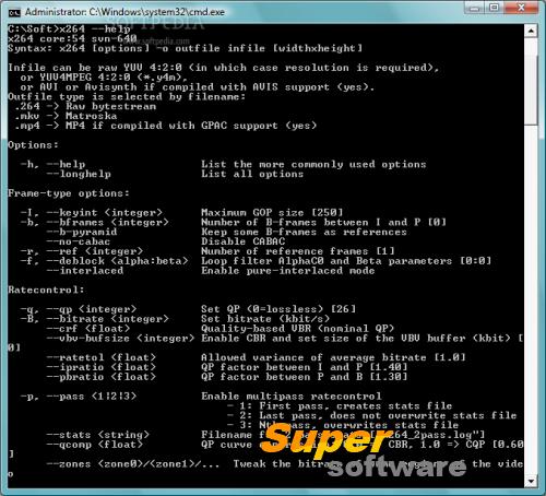 Скриншот x264 Video Codec r2851