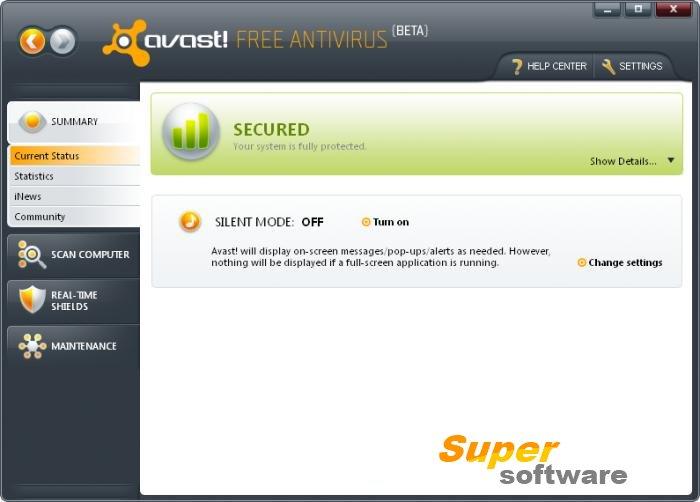 Скриншот Avast! Free Antivirus 11.2.2262