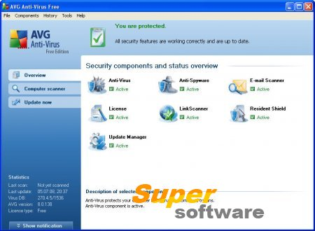 Скриншот AVG Free Edition 17.1.3006