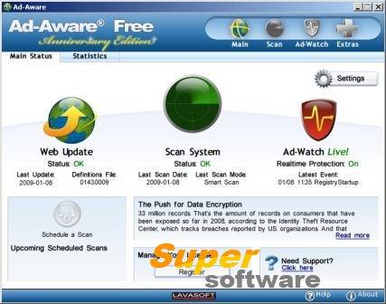 Скриншот Ad-Aware Free Antivirus+ 12.2.876.11542
