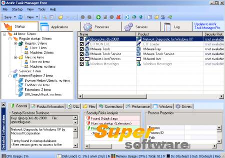Скриншот Anvir Task Manager 8.6.3