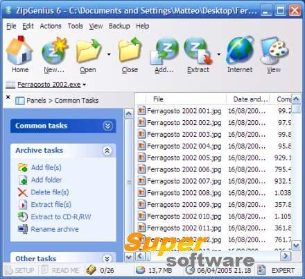 Скриншот ZipGenius 6.3.2.3115