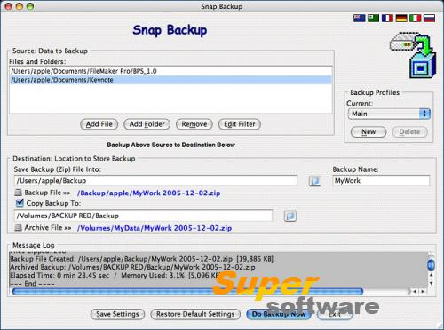 Скриншот Snap Backup 5.6
