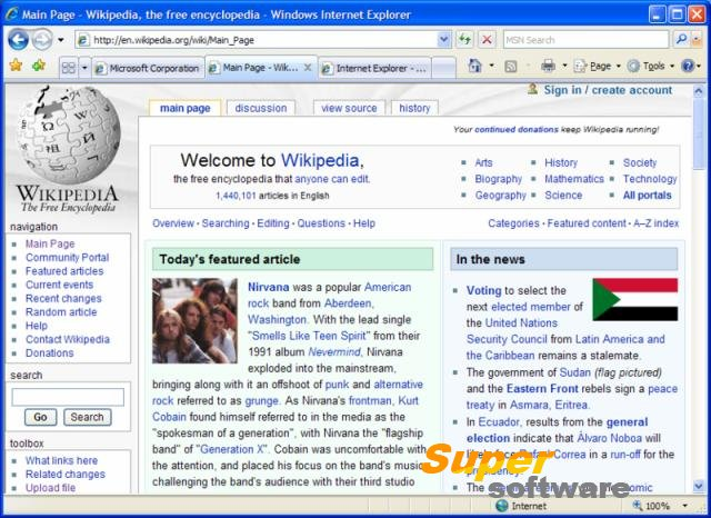 Скриншот Internet Explorer 11.0.35