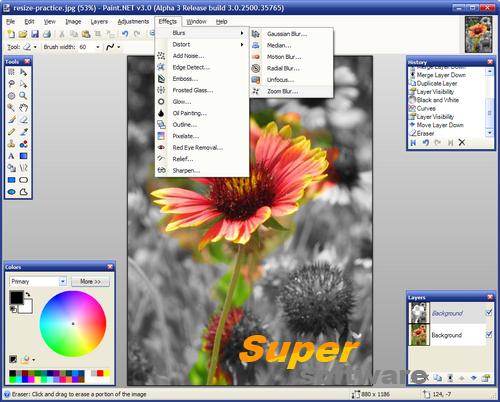Скриншот Paint.NET 4.0.16