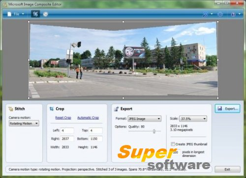Скриншот Microsoft Image Composite Editor 2.0.3.0