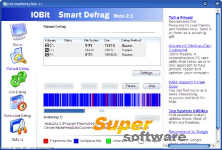 Скриншот SmartDefrag 5.5.1.1056