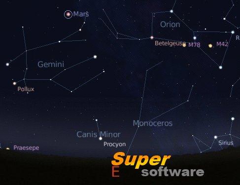 Скриншот Stellarium 0.16.0