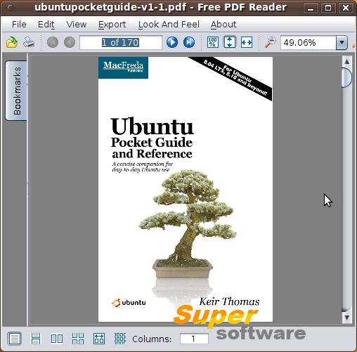 Скриншот Free PDF Reader 1.4