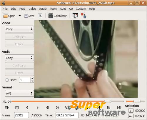 Скриншот Avidemux 2.7.0