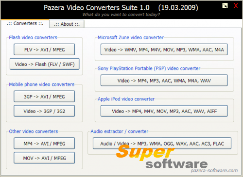 Скриншот Pazera Video Converters Suite 1.10