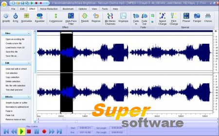 Скриншот Power Sound Editor Free 7.8.1