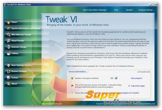 Скриншот TweakVI Free 1.0 build 1170