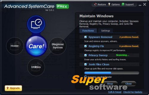 Скриншот Advanced SystemCare Free 11.2.0.212
