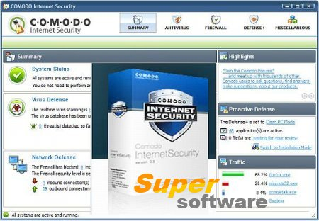 Скриншот Comodo Internet Security 10.0.1.6258