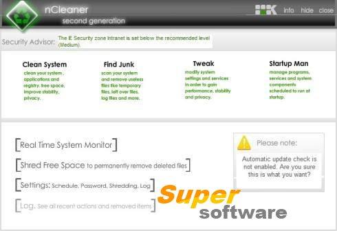 Скриншот nCleaner 2.3.4