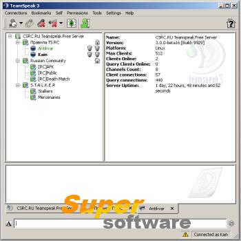 Скриншот Teamspeak Client 3.1.2 / Server 3.0.13.6