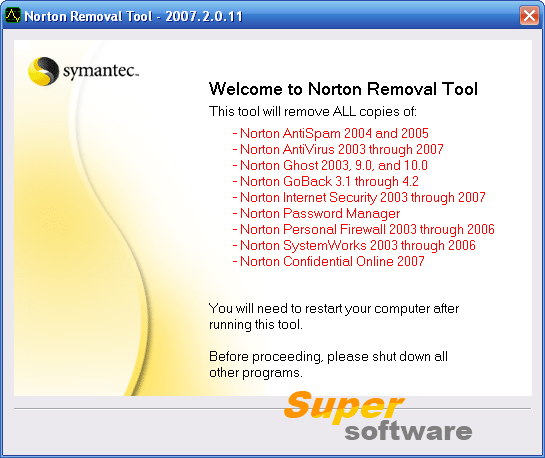 Скриншот Norton Removal Tool 22.5.0.22