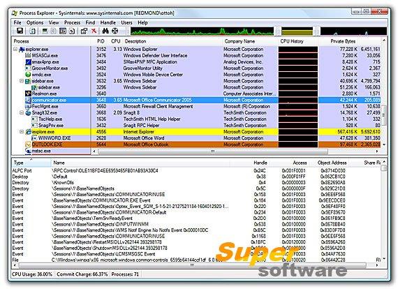 Скриншот Process Explorer 16.20