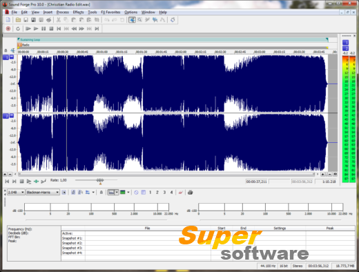 Скриншот Sound Forge Pro 11.0 Build 299