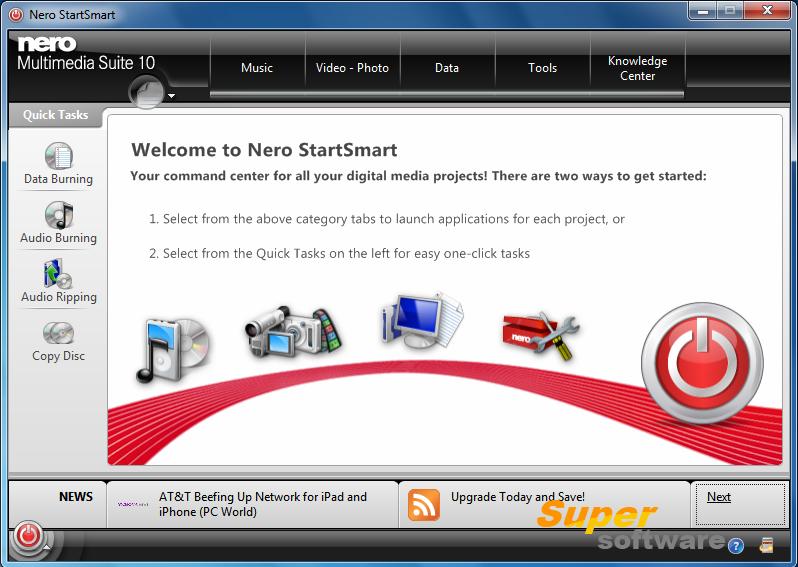 Скриншот Nero Multimedia Suite 2014 15.0.07100