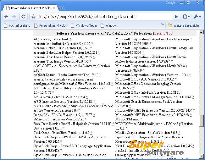 Скриншот Belarc Advisor 8.5.3.0