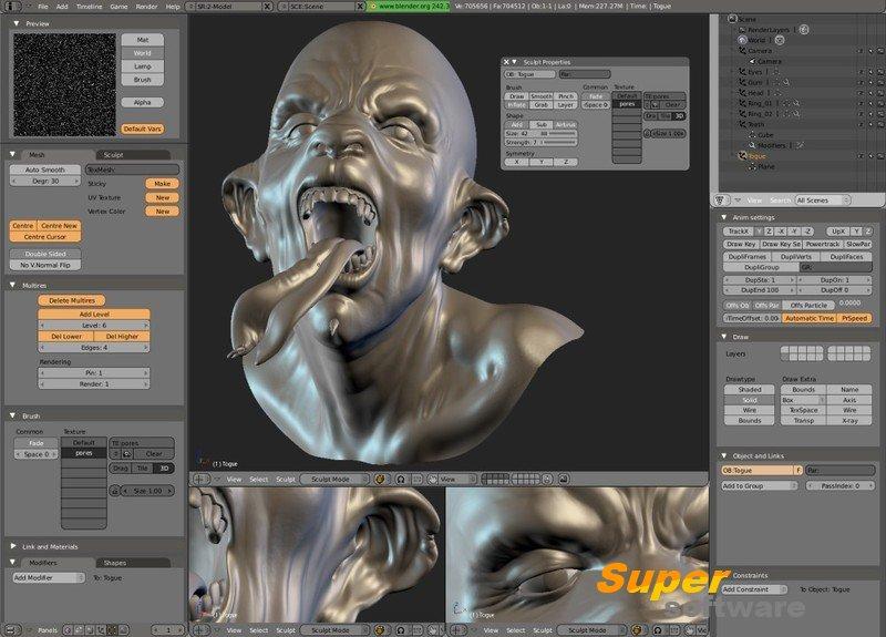 Скриншот Blender 2.78c
