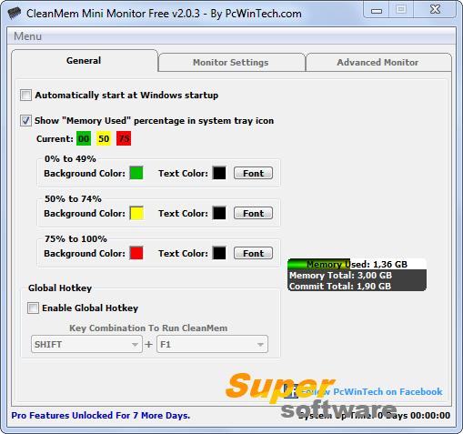Скриншот CleanMem 2.5.0