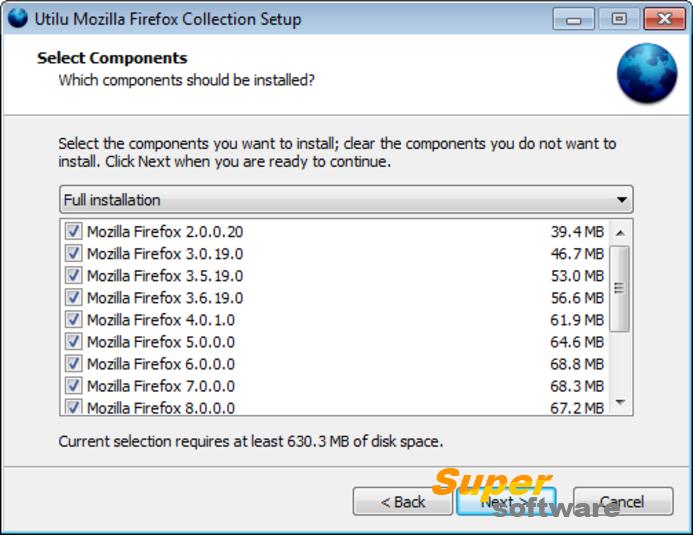Скриншот Utilu Mozilla Firefox Collection 1.1.8.7