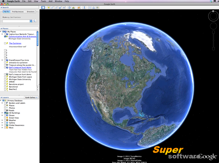 Скриншот Google Earth 7.1.8.3036