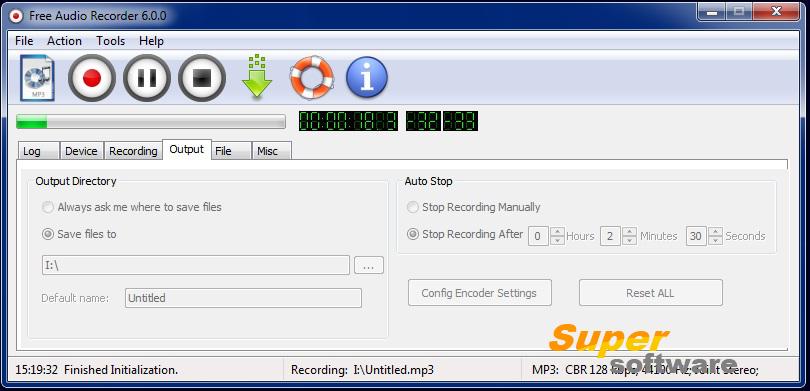 Скриншот Free Audio Recorder 6.6.8