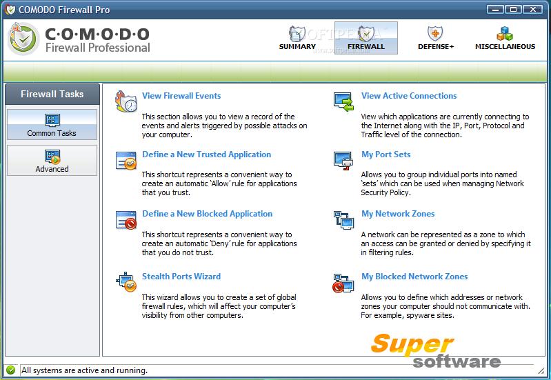 Скриншот Comodo Firewall 10.0.1.6294