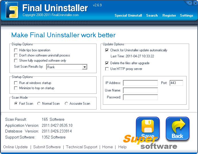 Скриншот Final Uninstaller 2.6.10