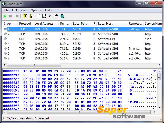 Скриншот SmartSniff 2.26