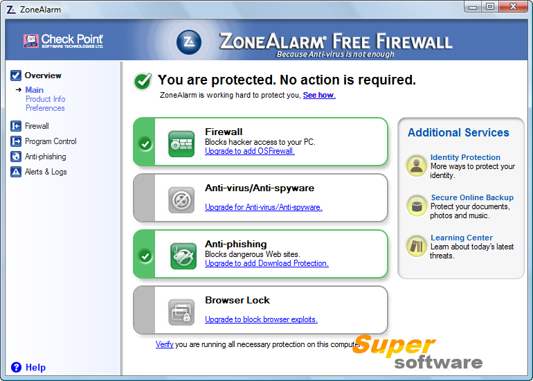 Скриншот ZoneAlarm Free Antivirus + Firewall 14.2.255.000