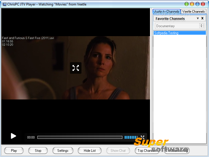 Скриншот ChrisPC JTV Player 4.40