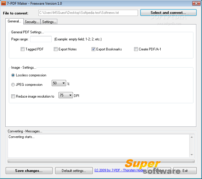 Скриншот 7-PDF Maker 1.5.1.164