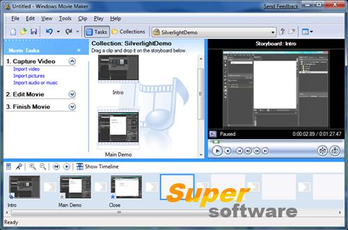 Скриншот Windows Movie Maker 2.6.4038.0 RUS