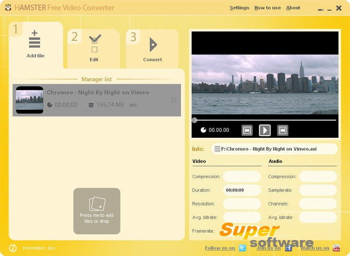 Скриншот Hamster Free Video Converter 2.5.2.34