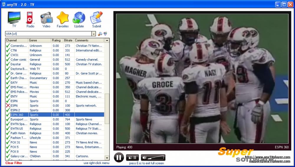Скриншот AnyTV Free 2.64