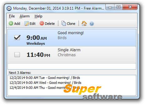 �������� Free Alarm Clock 4.0.0