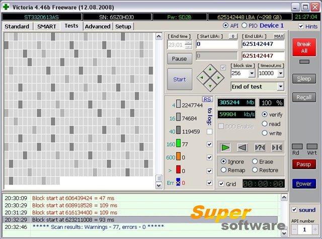 Скриншот Victoria 4.47