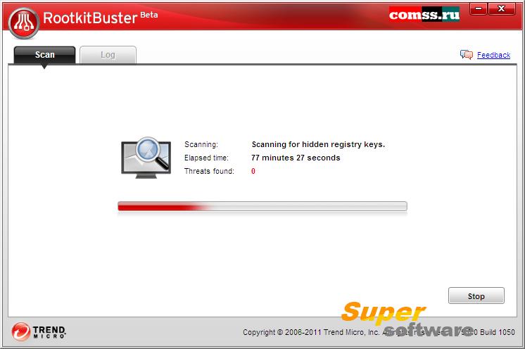 Скриншот Trend Micro RootkitBuster 3.60.1016
