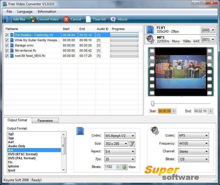 Скриншот Free Video Converter 4.0.4