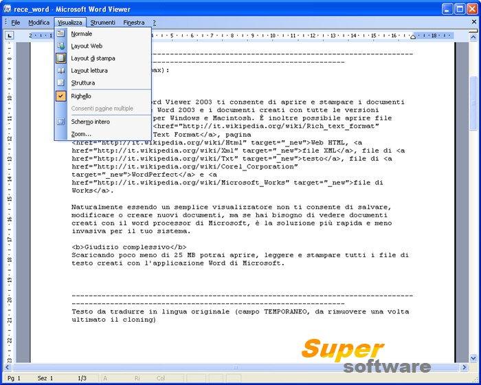 Скриншот Microsoft Office Word Viewer 11.8169.8172