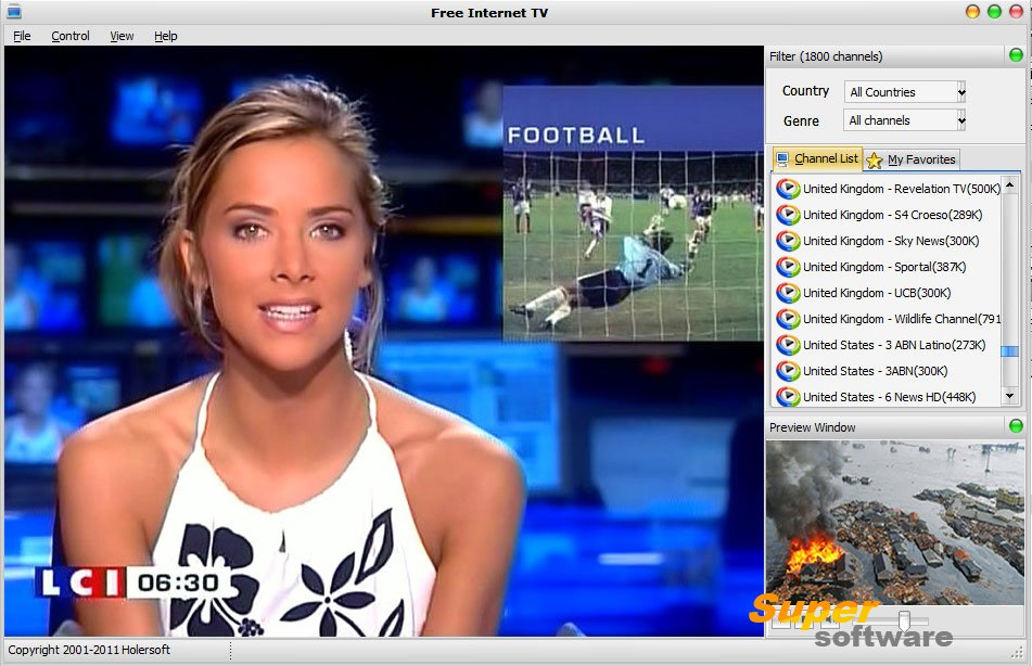 Скриншот Free Internet TV 8.0