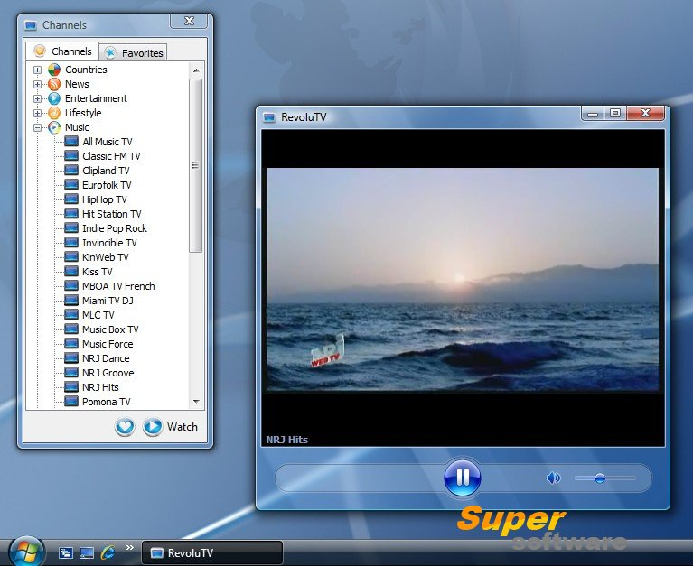 Скриншот RevoluTV 2.5