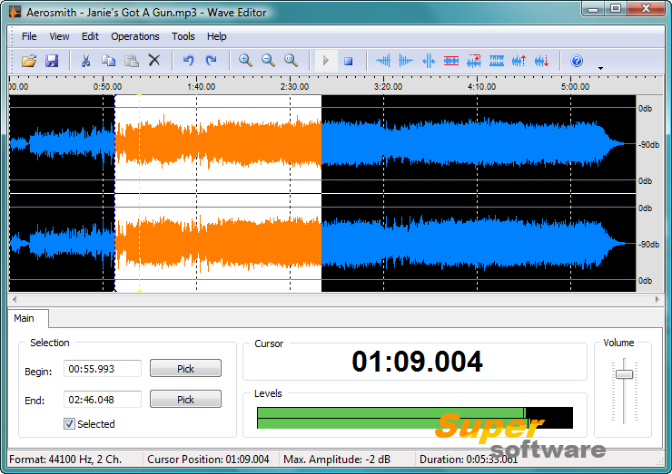 Скриншот Wave Editor 3.3.2.0