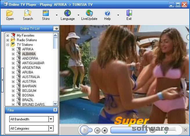 Скриншот Online TV Player 5